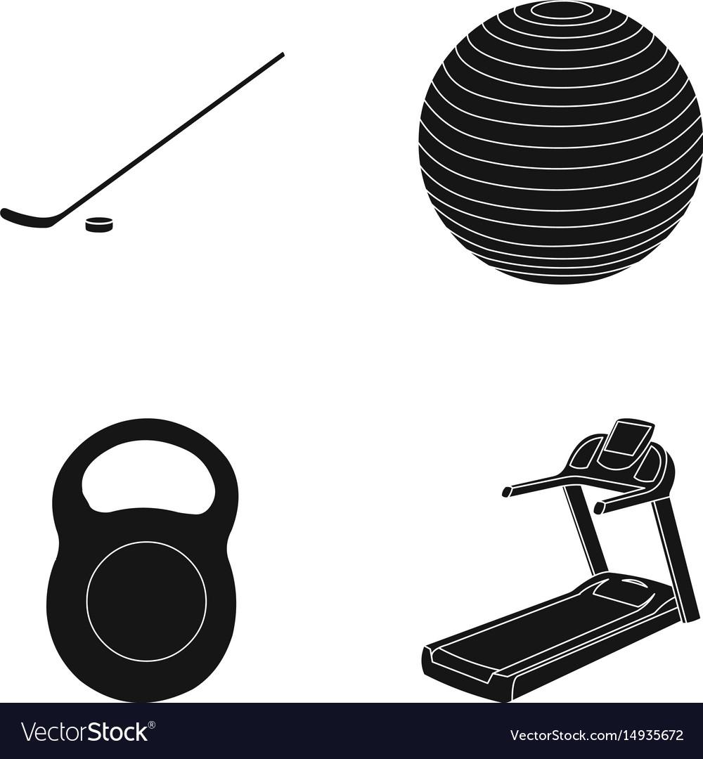 Hockey stick with puck ball weight treadmill