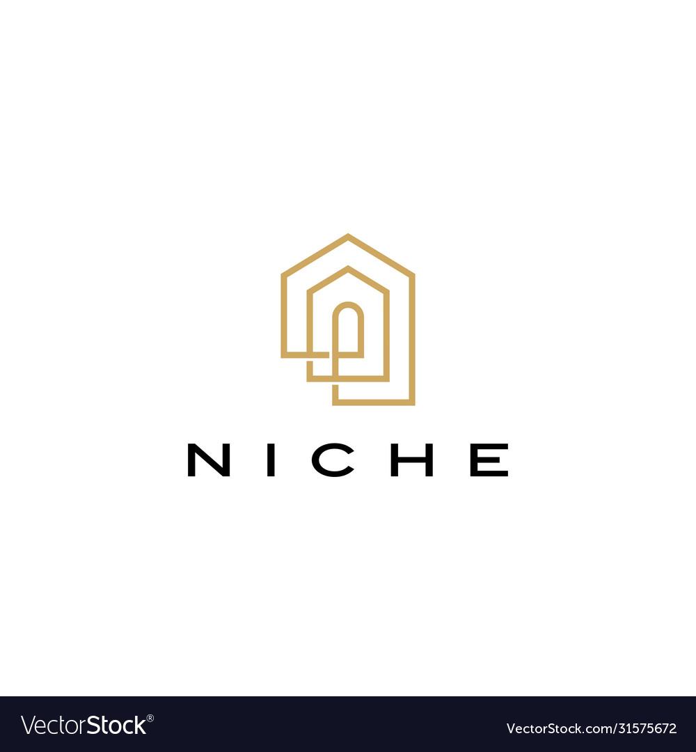 Niche door window shape logo icon