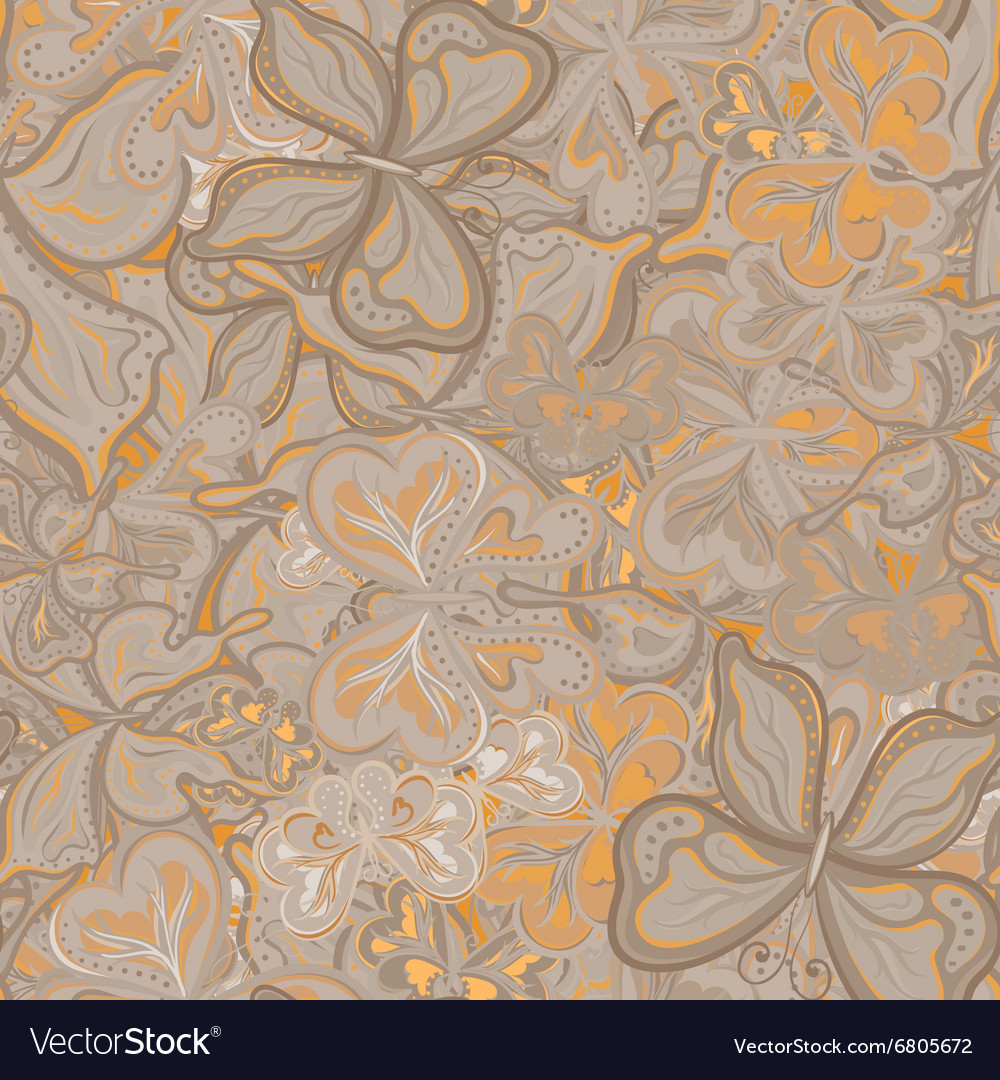 Seamless pattern with butterflies for