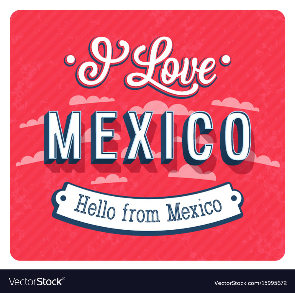 Vintage greeting card from mexico
