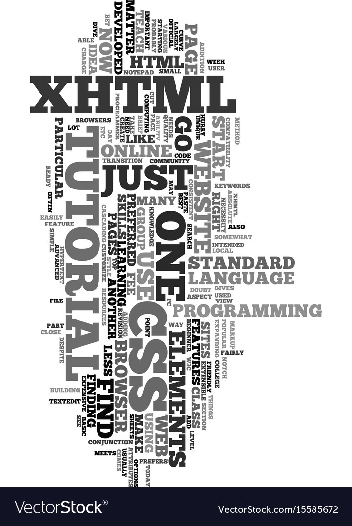 Xhtml and css tutorial text word cloud concept