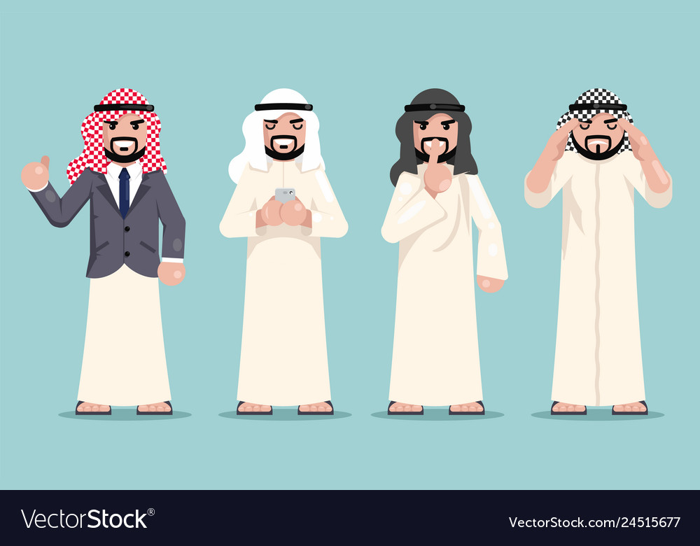 Arab businessman finance working decision making