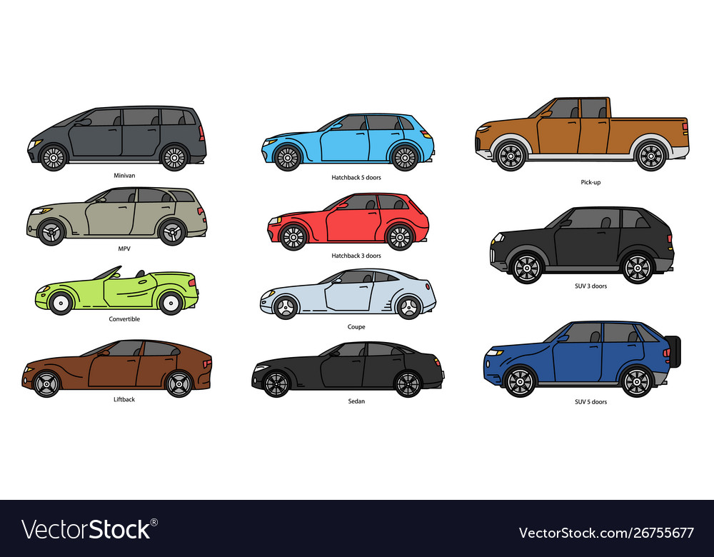 Car body style outline public transport and