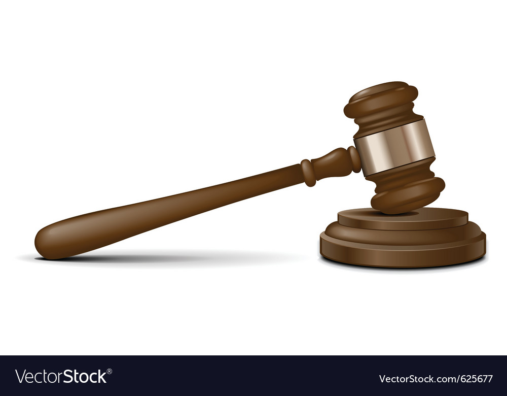 Judge Gavel Vector Image