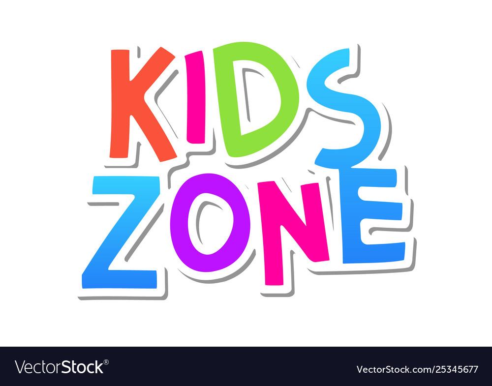 Kid zone fun banner background kids game