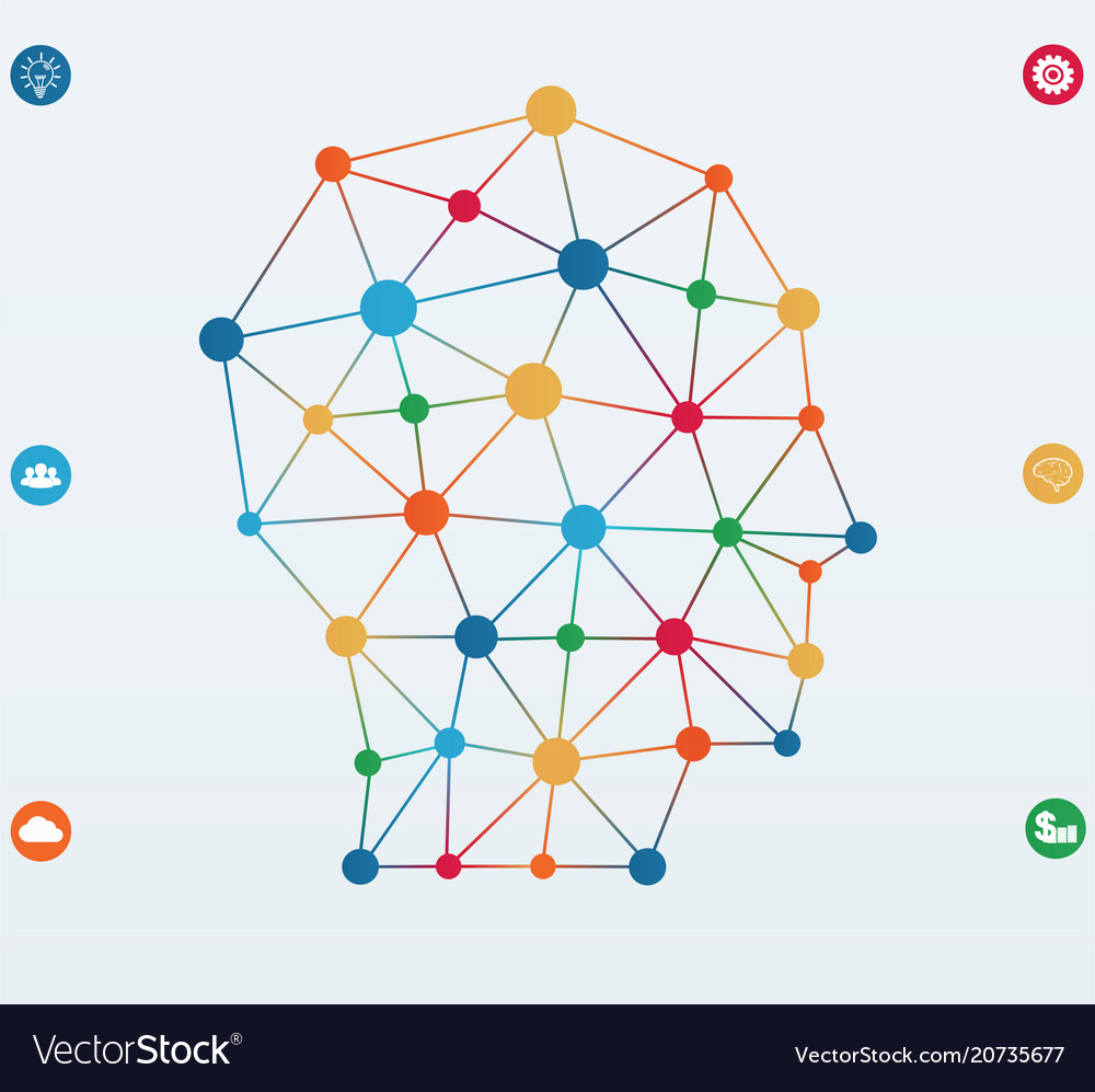Network connections lines infographics template