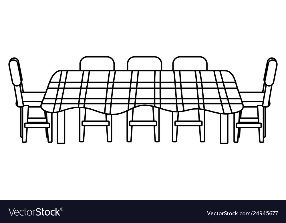 Fine Table Icon Cartoon Black And White Machost Co Dining Chair Design Ideas Machostcouk