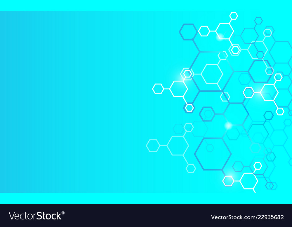 Abstract geometric hexagons modern background