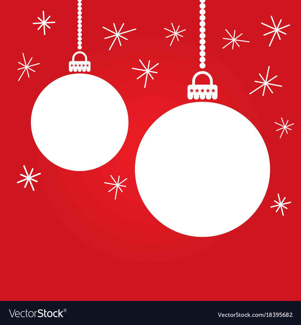Christmas card with colorful empty balls