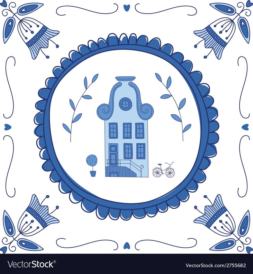 Delft blue house