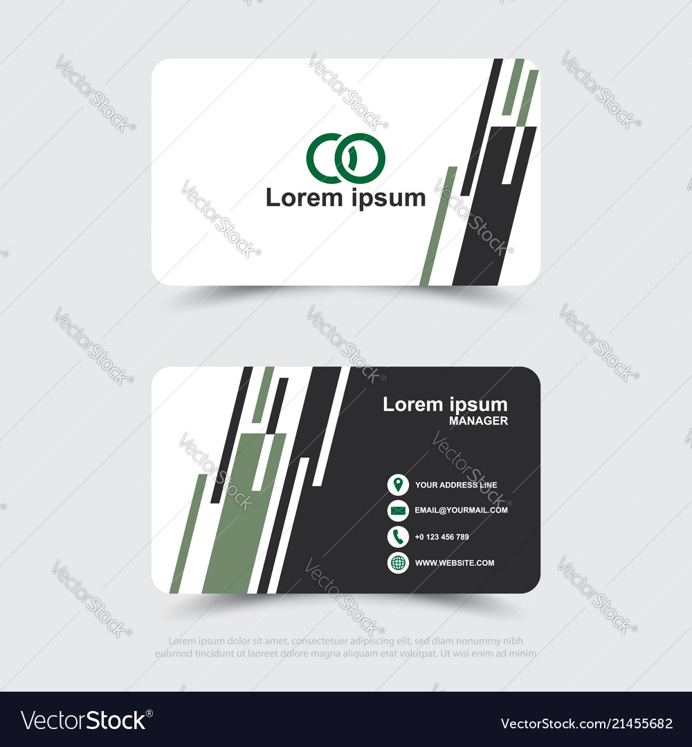 Design of modern business name card template