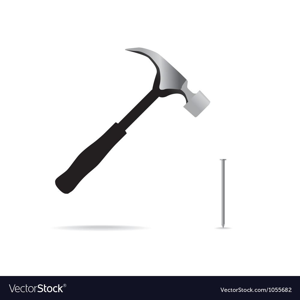Hammer And Nail Royalty Free Vector Image Vectorstock