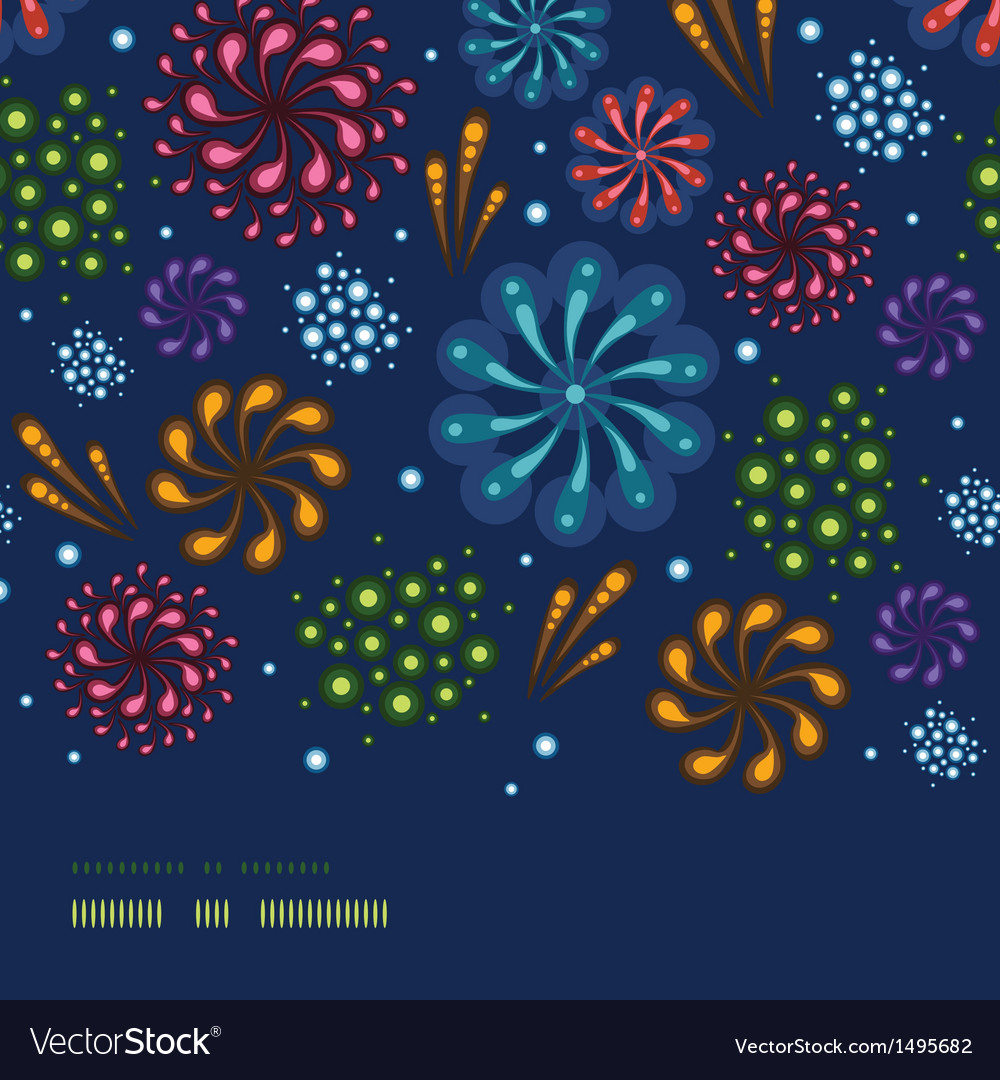 Holiday fireworks horizontal seamless pattern vector