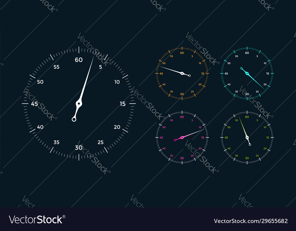 Set white clock face for with pointer