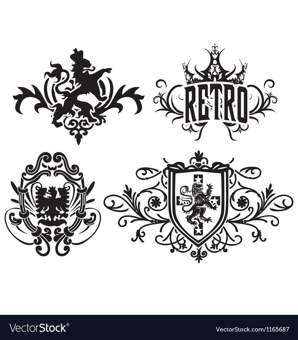 Classic royal heraldic emblem