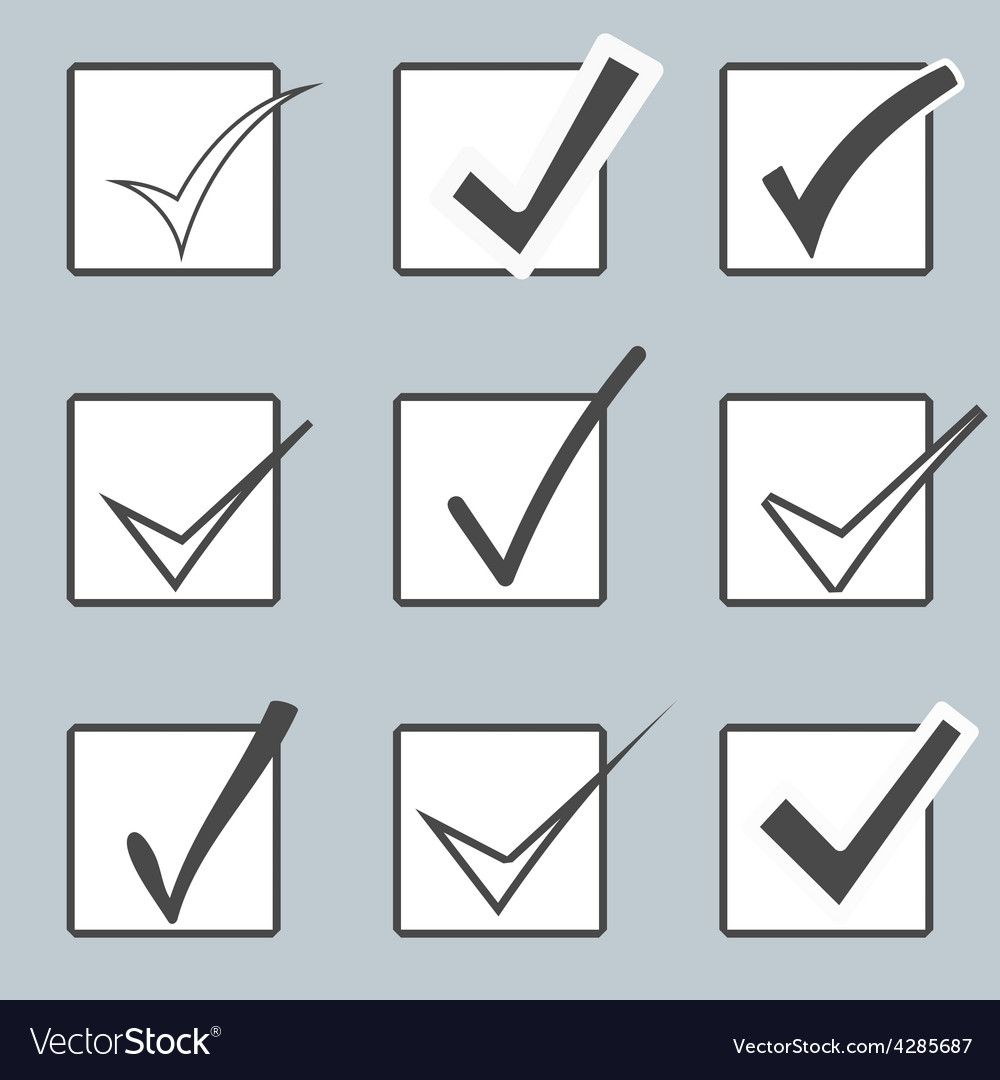 Confirm icons set Yes icon Check Mark