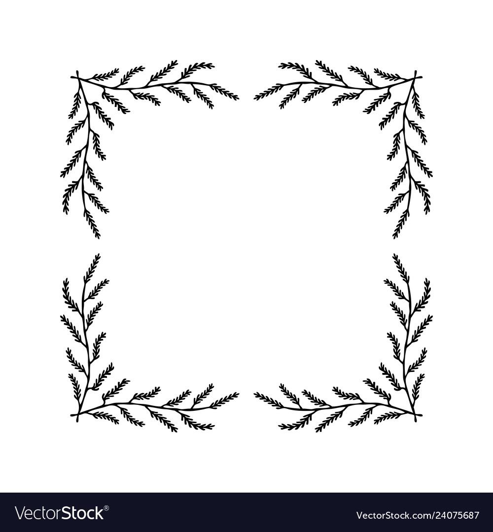 Floral wreaths frames