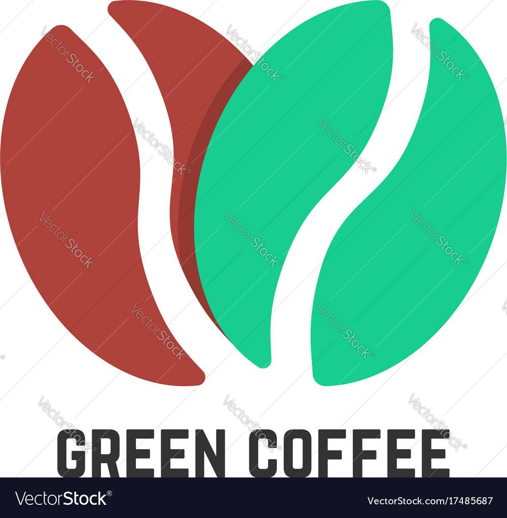 Green coffee logo like beans
