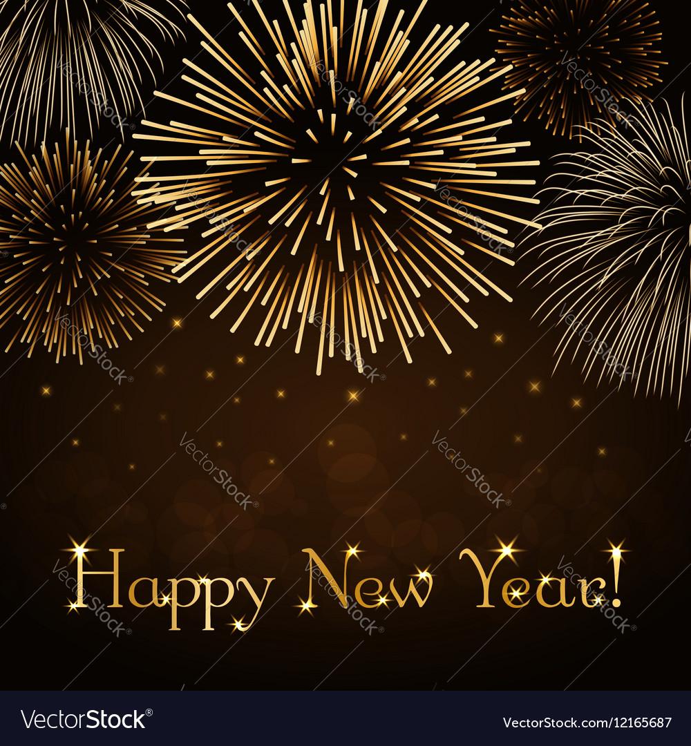 Happy New Year firework background
