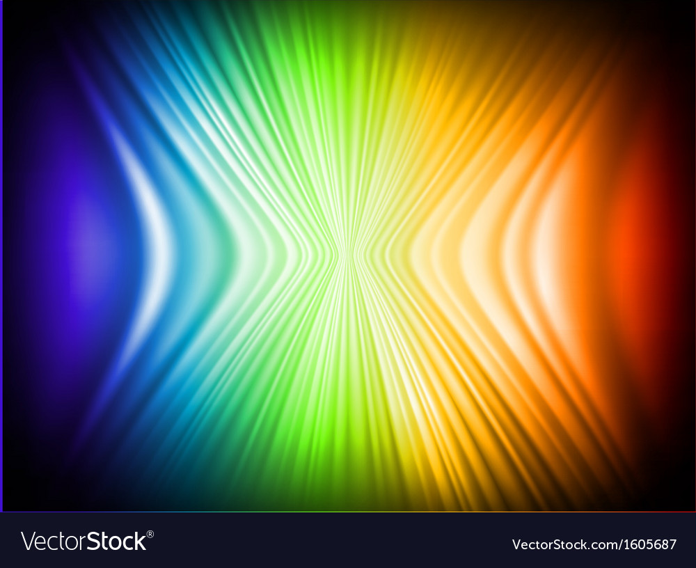 Rainbow Colors Abstract Horizontal Lines card vector image