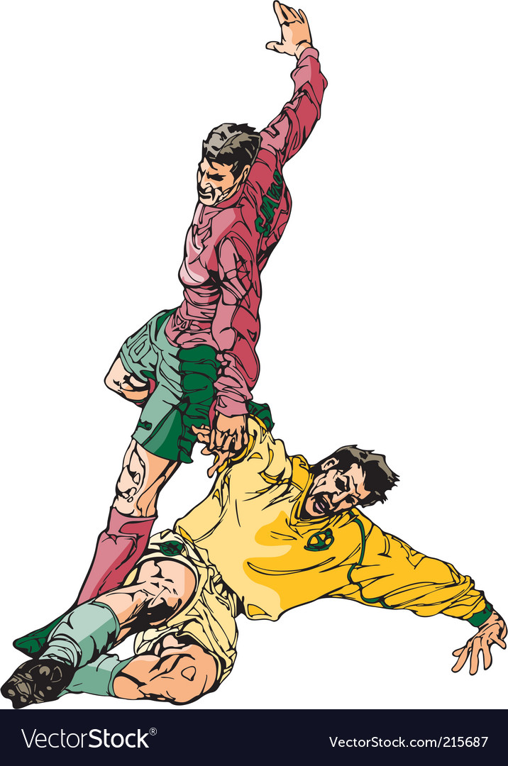 Soccer sketch vector image