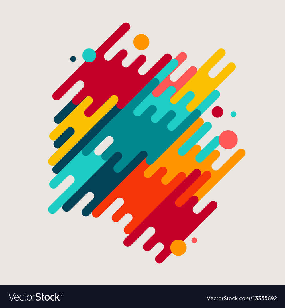 Abstract geometric motion shapes vector image