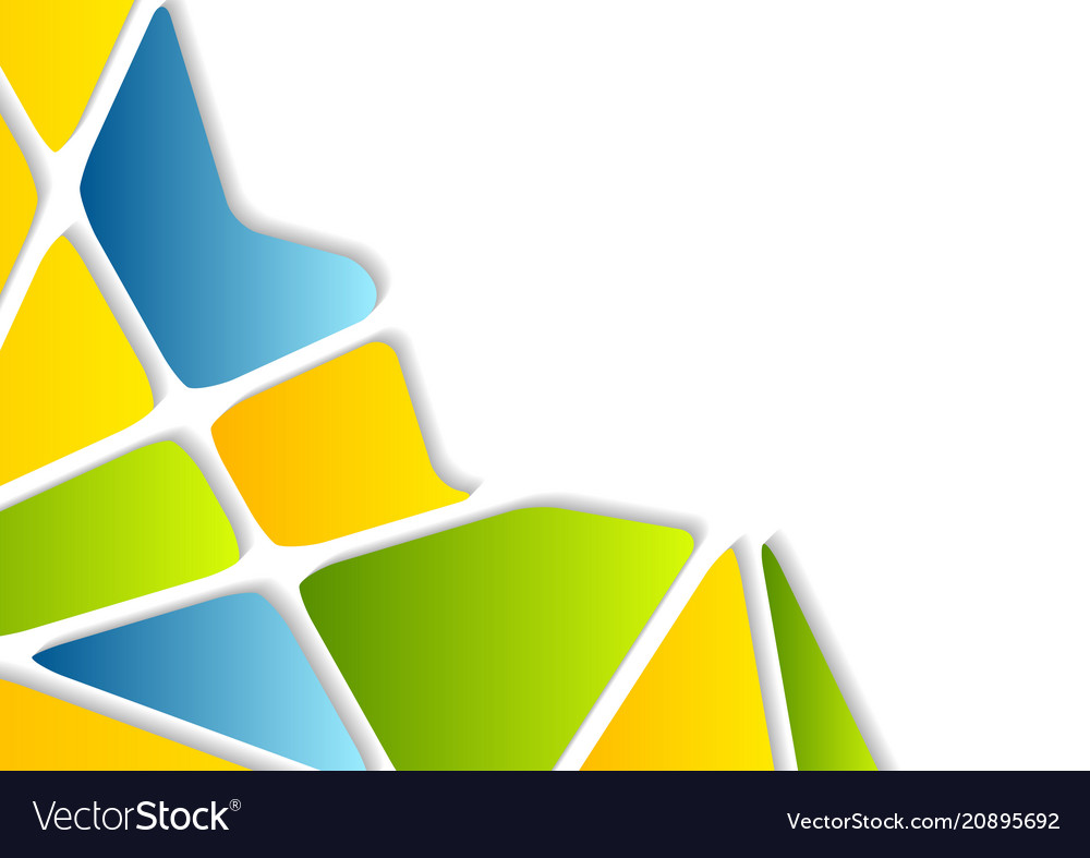 Color Abstract Vector Background Text Frame Stock Vector: Colorful Geometric Shapes Abstract Background Vector Image