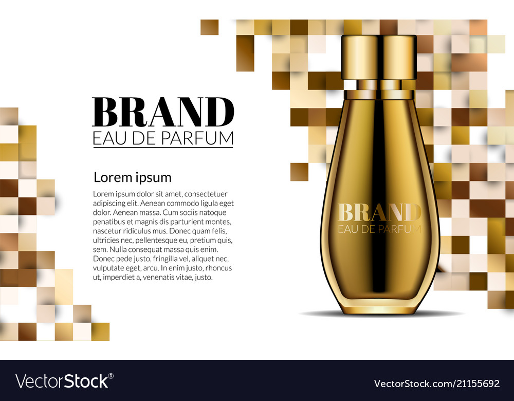 Perfume design glass bottle luxury cosmetics