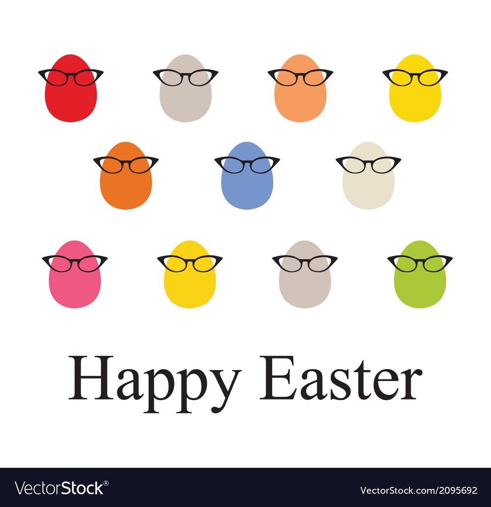 Set o Easter vintage eggs