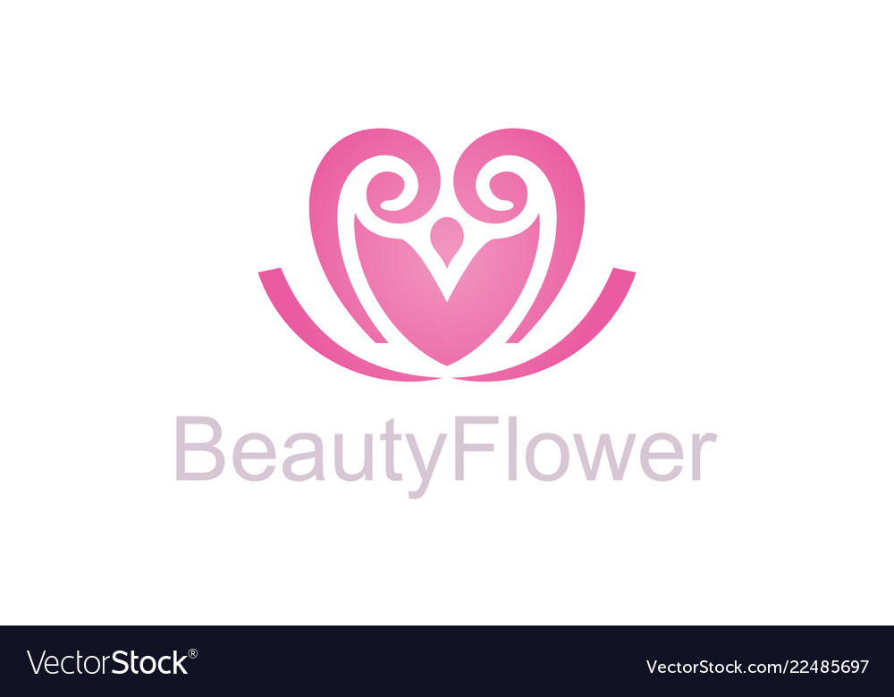 Beauty flower logo