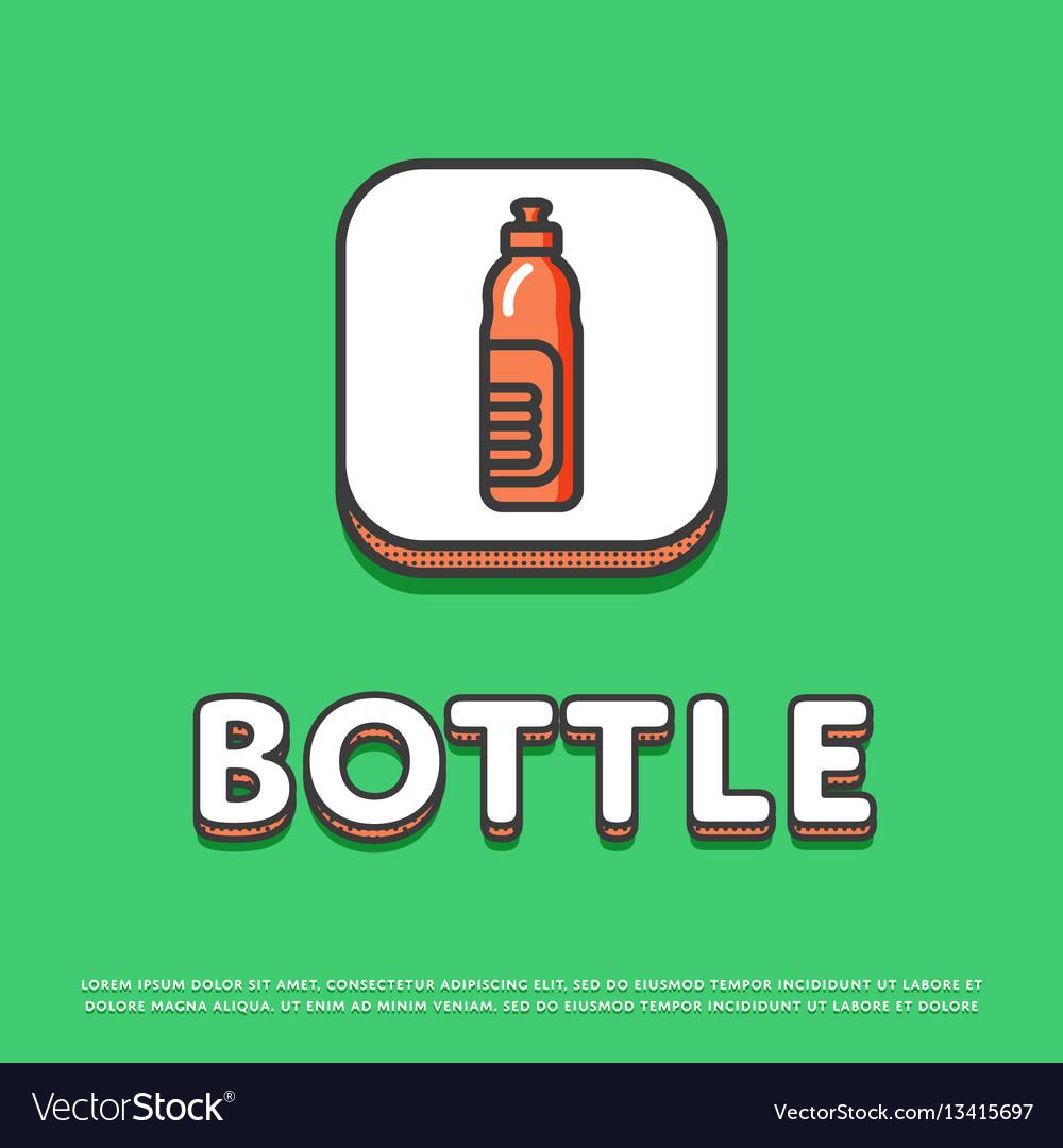 Bottle colour icon in line design