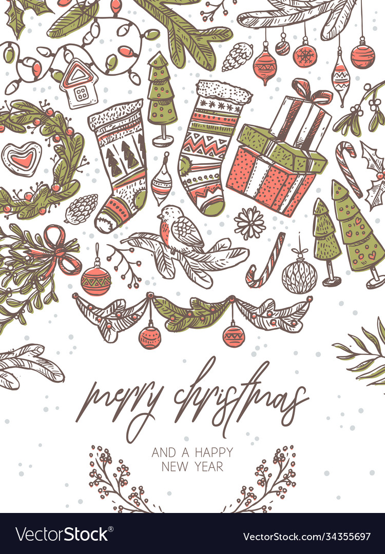 Christmas festive greeting card
