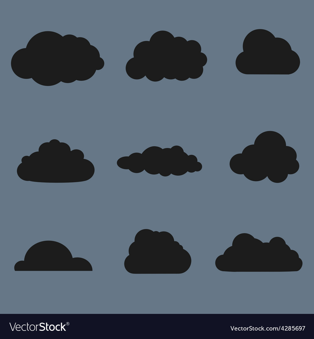 Clouds collection Black