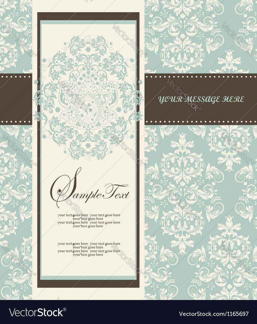 Damask Wedding Invitations