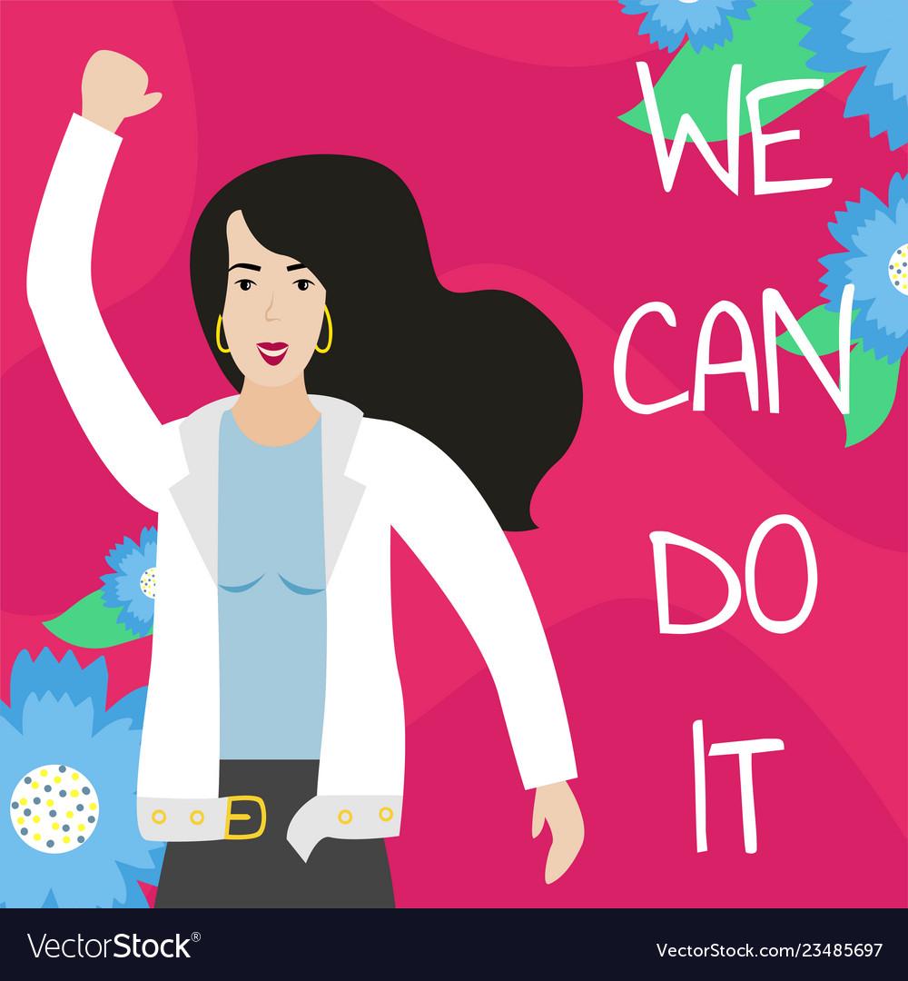 Feminist girl power poster we can do it
