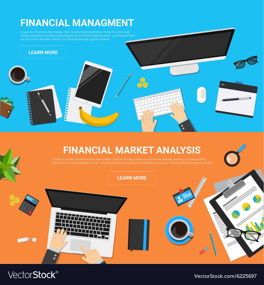 Flat design concepts for business strategy and vector image
