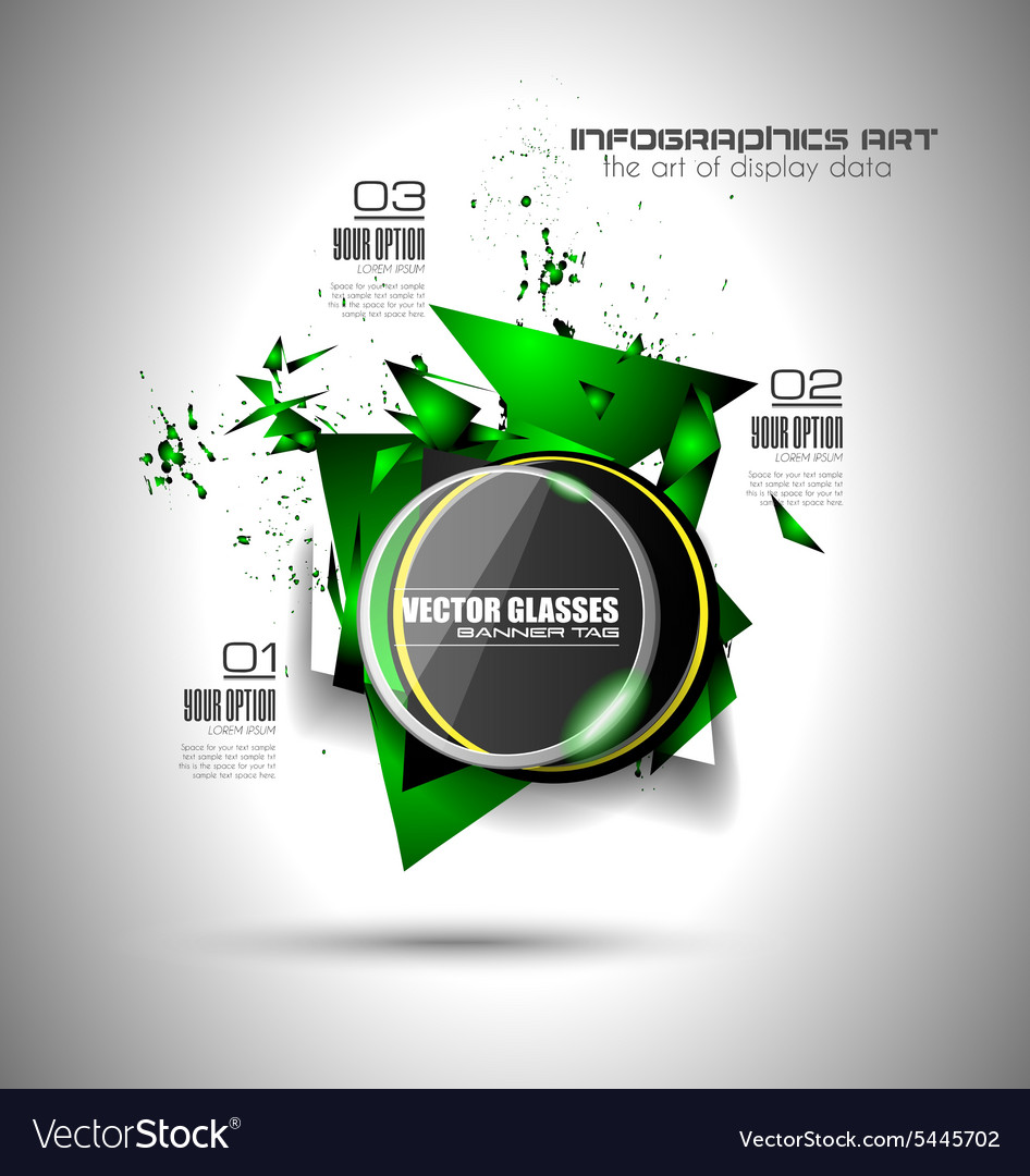Abstract high tech background with triangula shape vector image