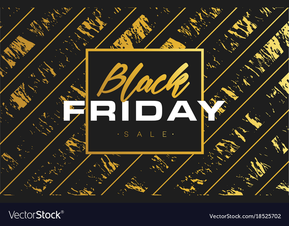 Black friday sale gold banner luxury background