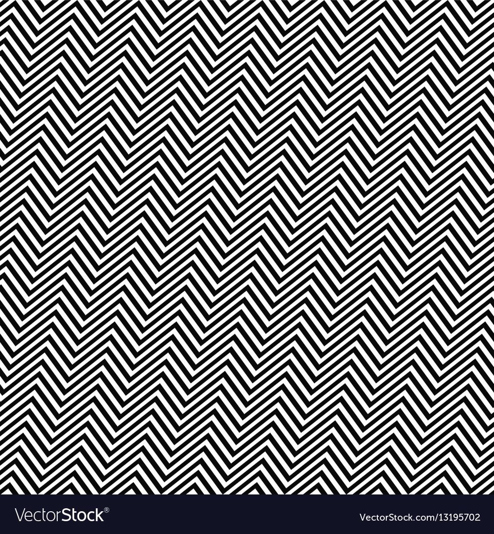 Black white angular seamless zig zag line pattern