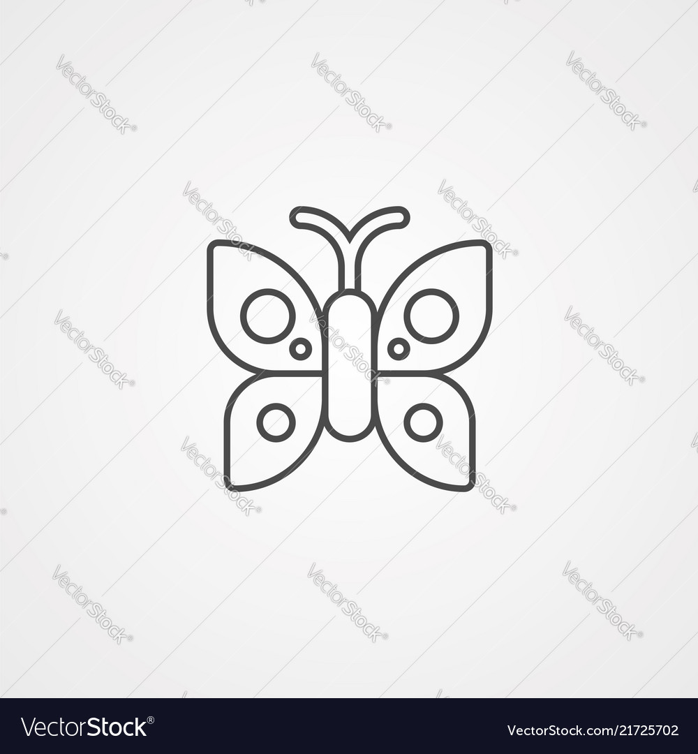 Butterfly icon sign symbol