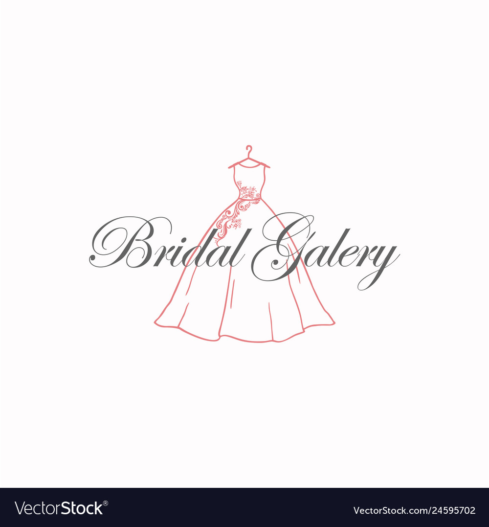 Dress boutique bridal galery logo sign template