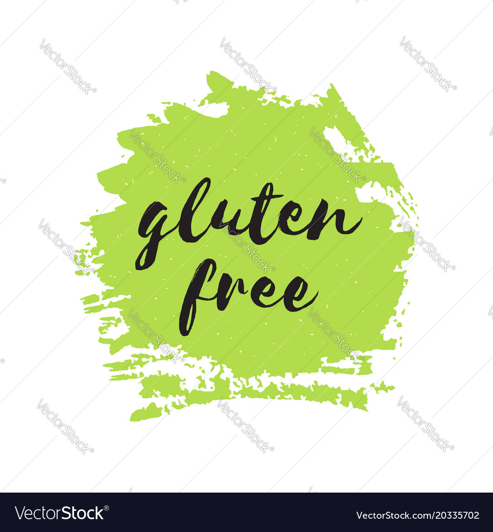 Gluten free round stamp logo or sign
