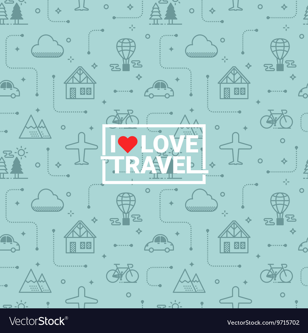 Travel seamless background