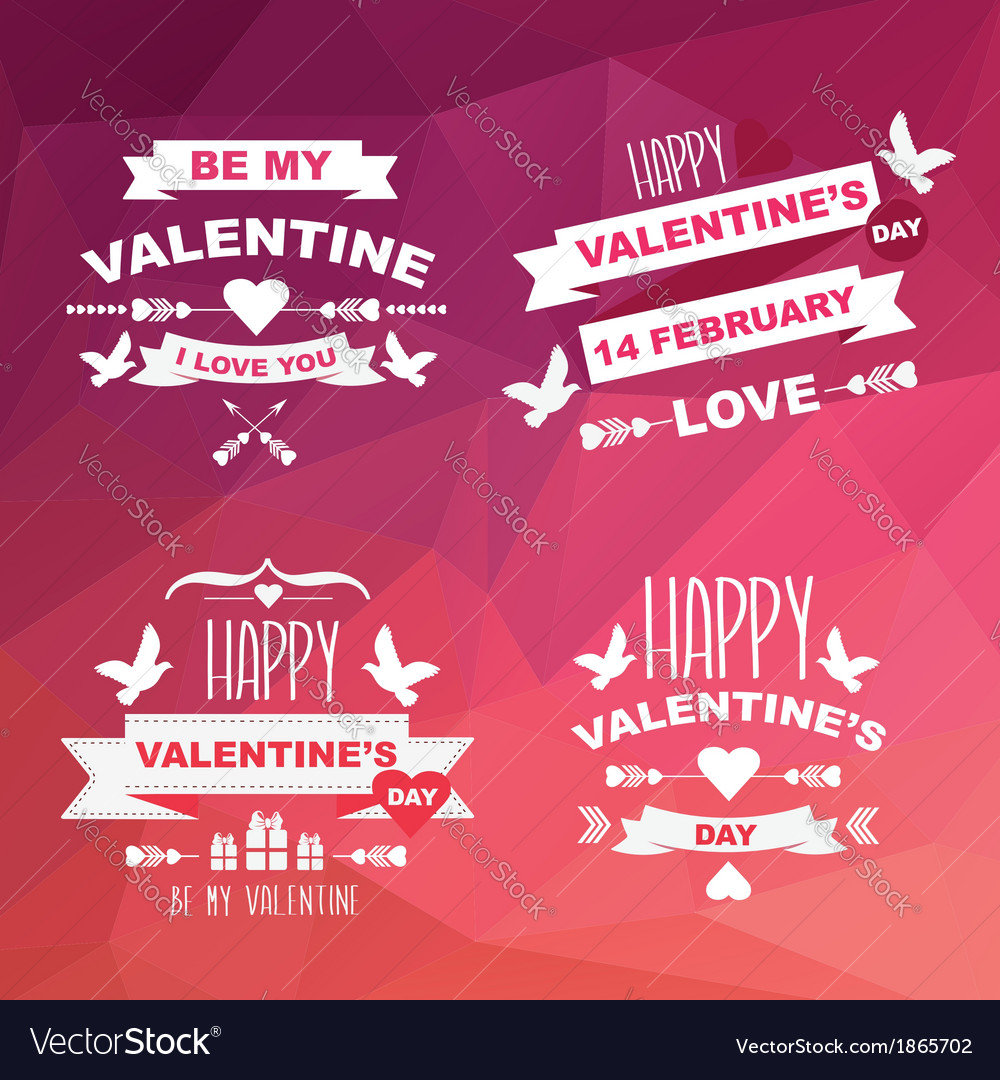 Valentines Day set of symbols