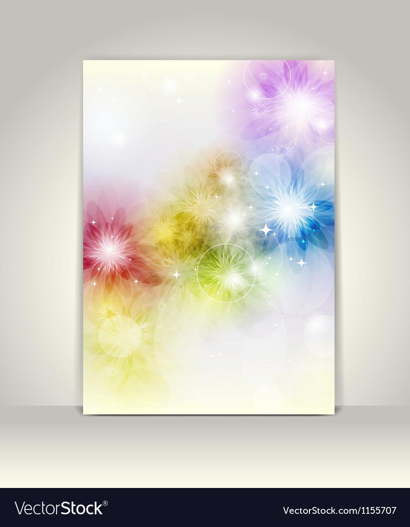 Business brochure template flower colorful design