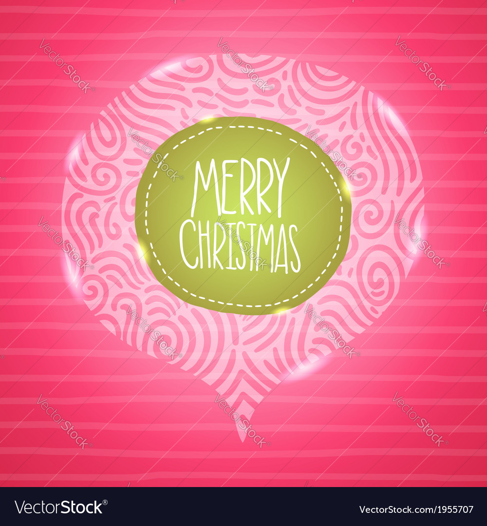 Christmas card Holiday background with badge