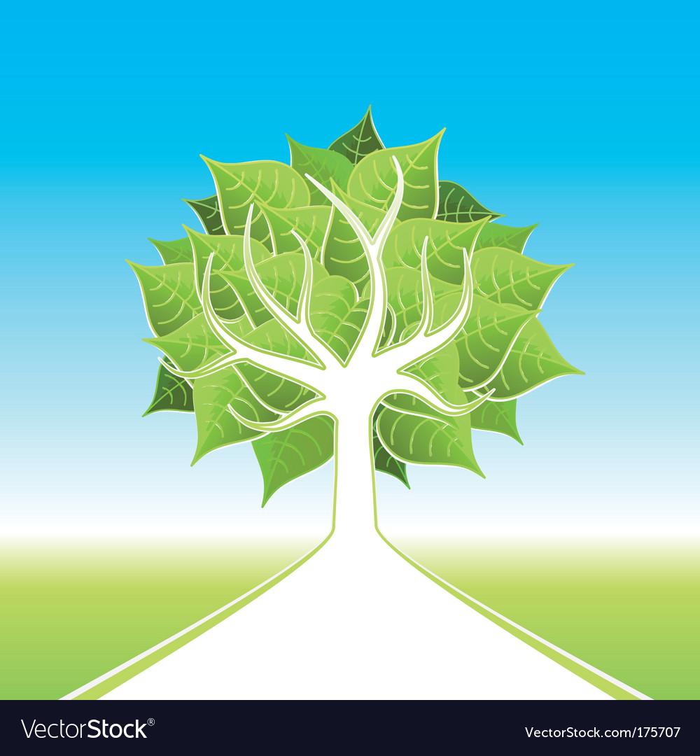 Eco tree design vector image