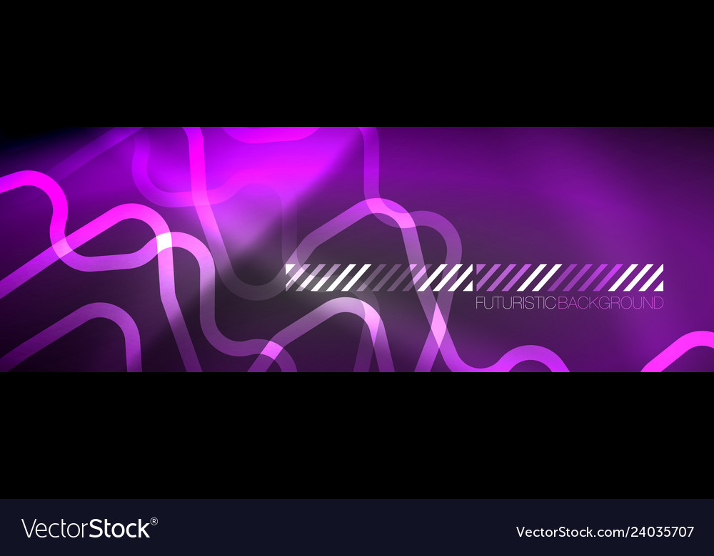Glowing Neon Abstract Lines Techno Futuristic