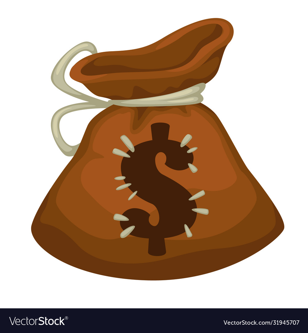 Moneybag with dollar sign payment or savings icon