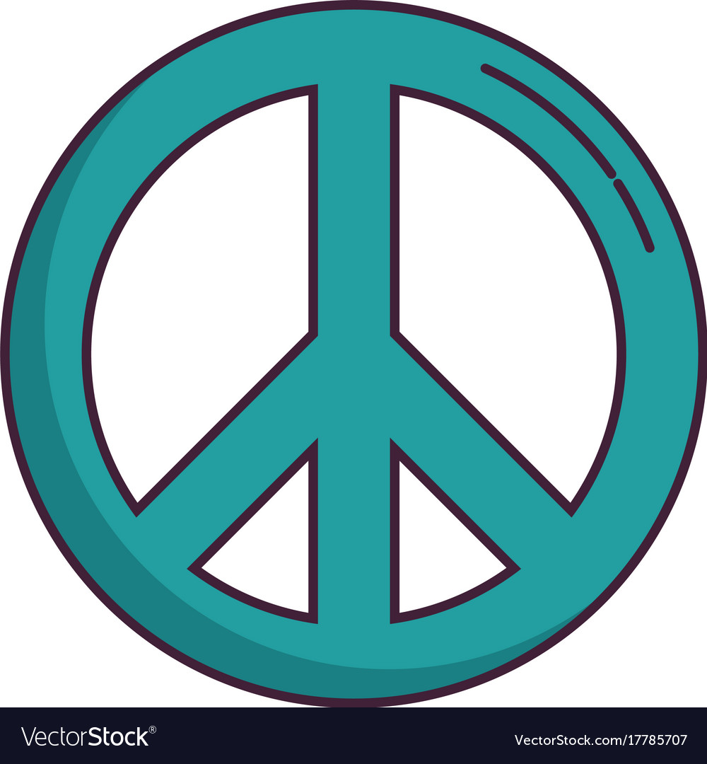 peace sign icon royalty free vector image vectorstock rh vectorstock com peace sign vector image peace sign vector file